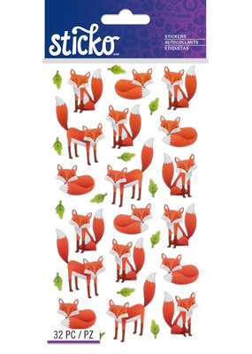 EK Sticker Foxes