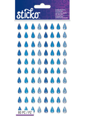 Sticko Stickers Sparkler Raindrops