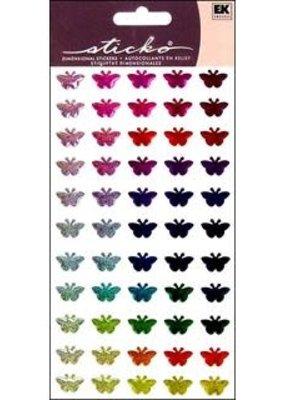 EK Sticker Repeats Sparkler Multi Butterfly