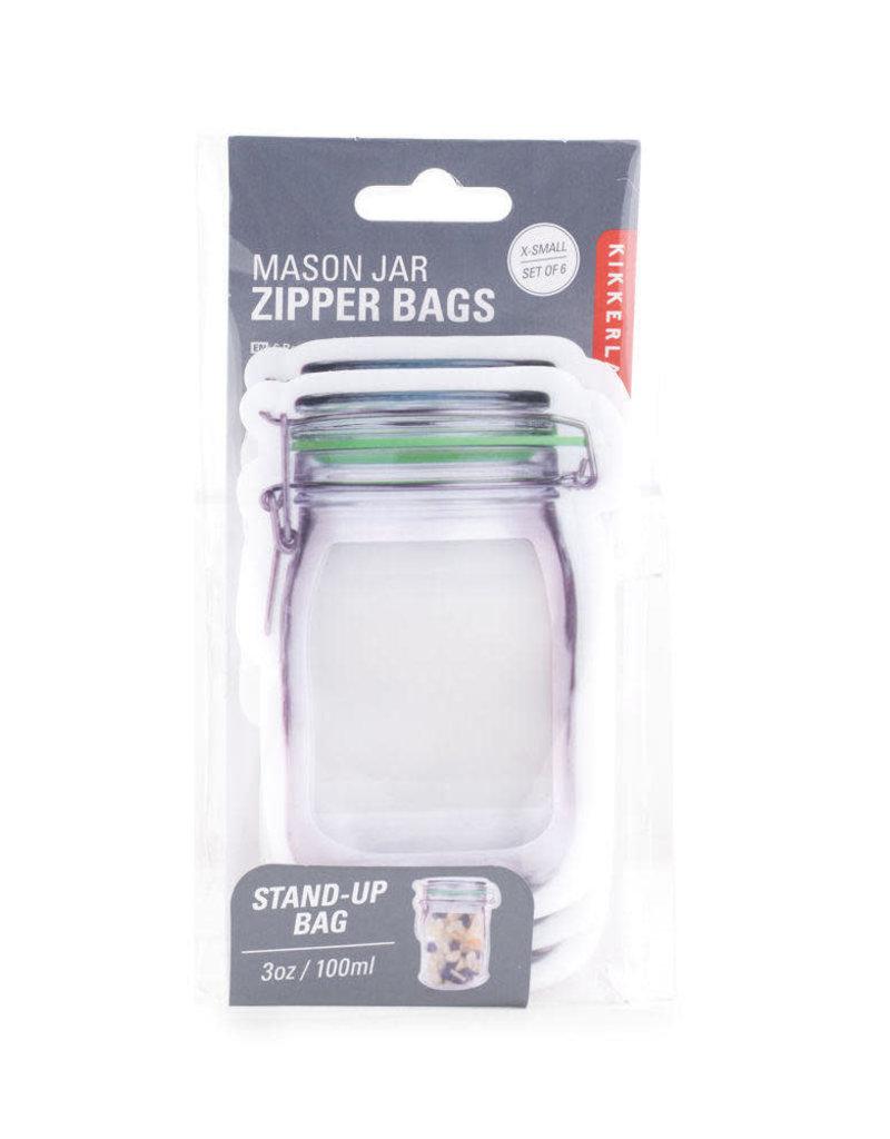 Kikkerland Flip Top Jar Zipper Bag Extra Small