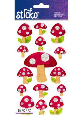 Sticko Stickers Polkadot Mushroom