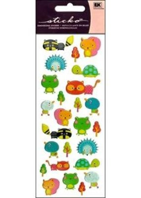 EK Sticker Puffy Animal Friends