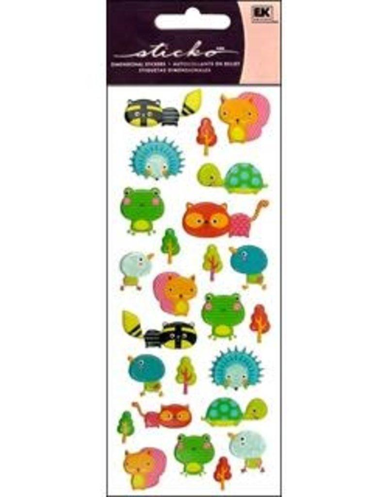 EK Sticker Puffy Animal Friends