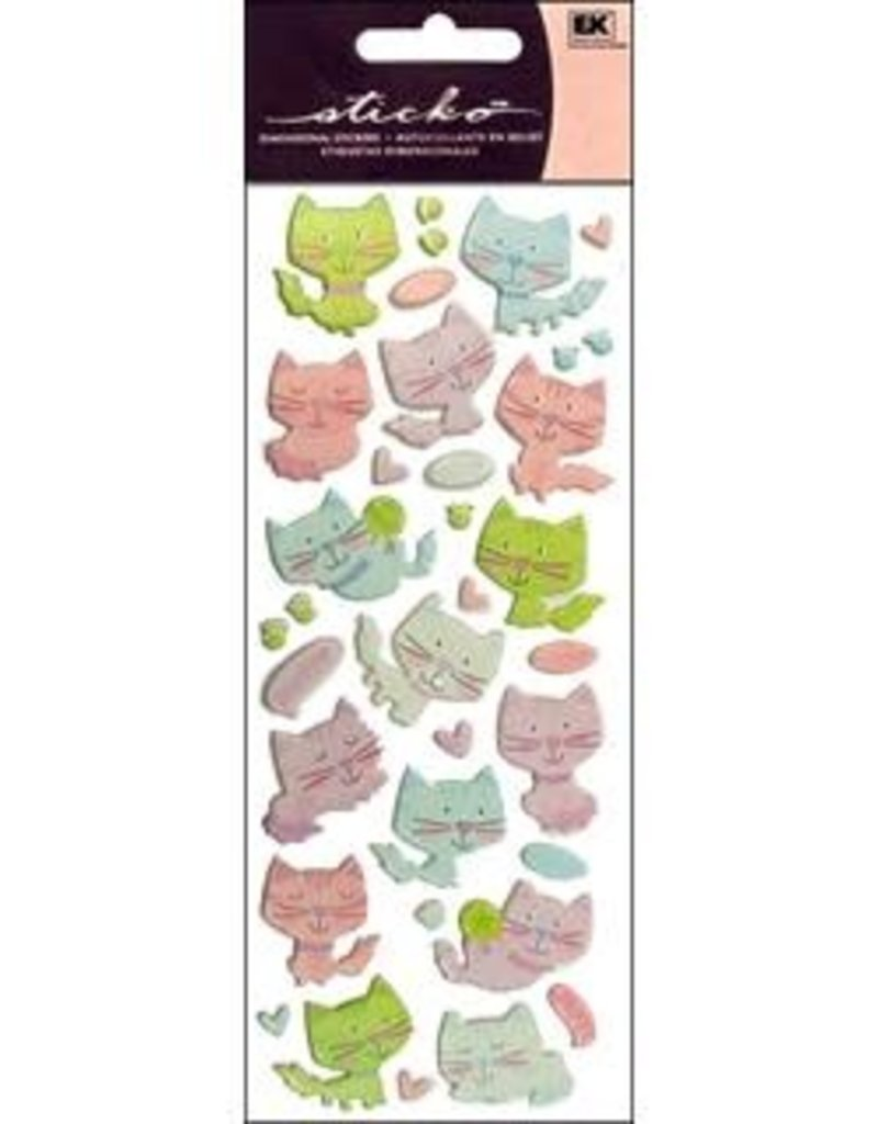 EK Sticker Puffy Kitties