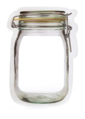 Kikkerland Flip Top Jar Zipper Bag Small