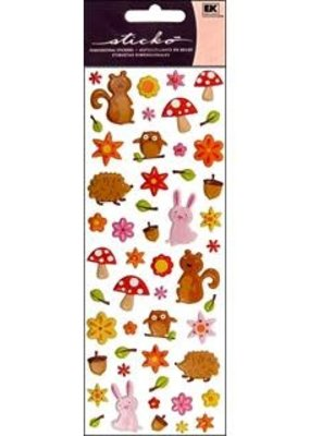 EK Sticker Puffy Woodland Animals