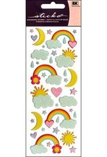 Sticko Stickers Puffy Rainbows