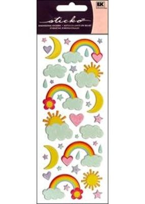 EK Sticker Puffy Rainbows