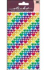 Sticko Stickers Metallic Rainbow Hearts