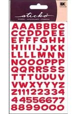 EK Sticker Alpha Met Funhouse Holo Red