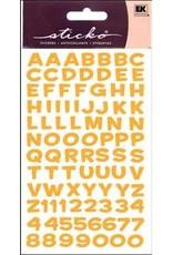 Sticko Stickers Metallic Alpha Funhouse Yellow