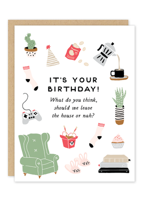 Party of One Card Homebody Birthday