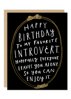 Party of One Card Introvert Birthday