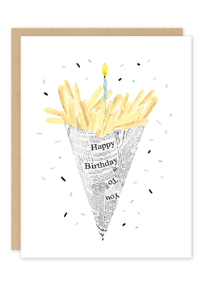 Party of One Card Birthday Fries