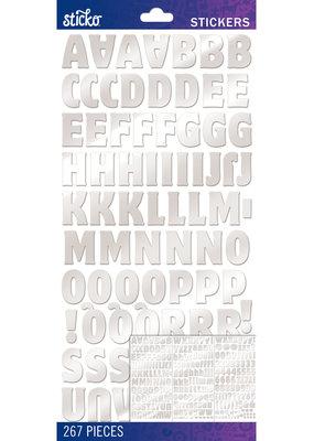 EK Sticker Alpha Motter Med Foil Silver