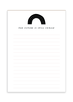 Party of One Notepad Future is Female