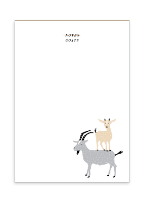 Party of One Notepad Goats