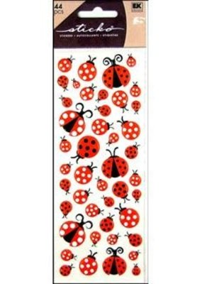 EK Sticker Puffy LadyBugs