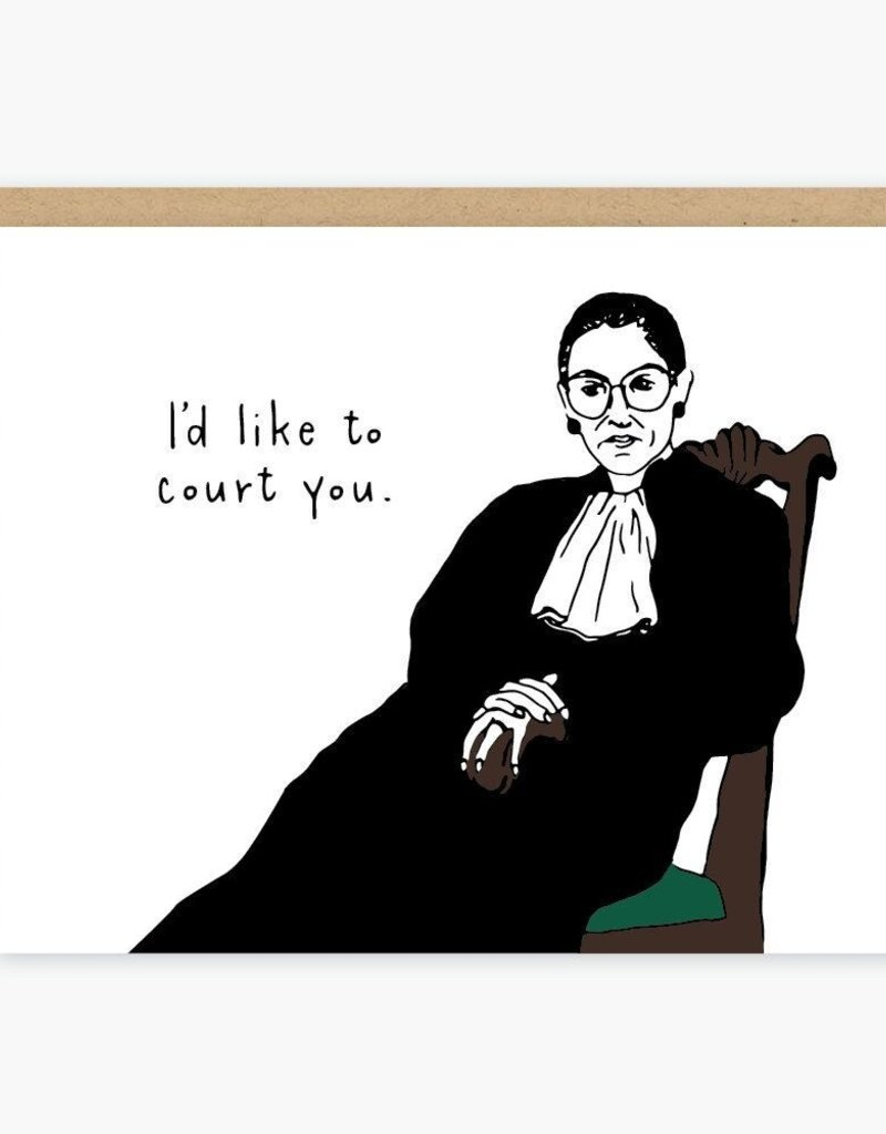 Party of One Card Ruth Bader Ginsburg Court You