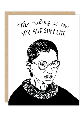 Party of One Card Ruth Bader Ginsburg You Are Supreme