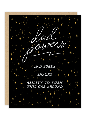 Party of One Card Dad Powers