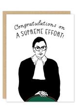 Party of One Card Ruth Bader Ginsburg Congrats