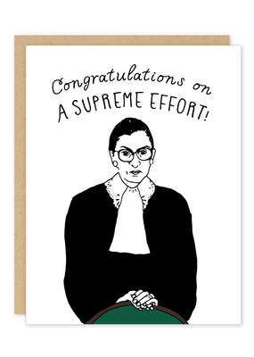 Party of One Card Ruth Bader Ginsburg Congrats