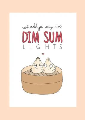 FINEASSLINES Card Dim Sum Lights