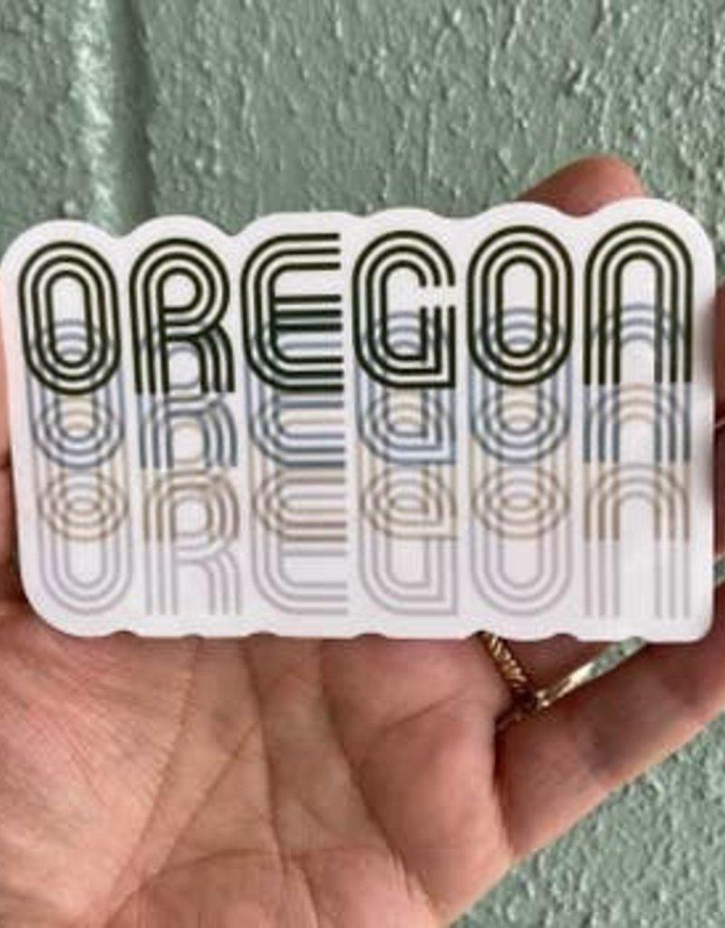 Salty Raven Sticker Oregon Fade