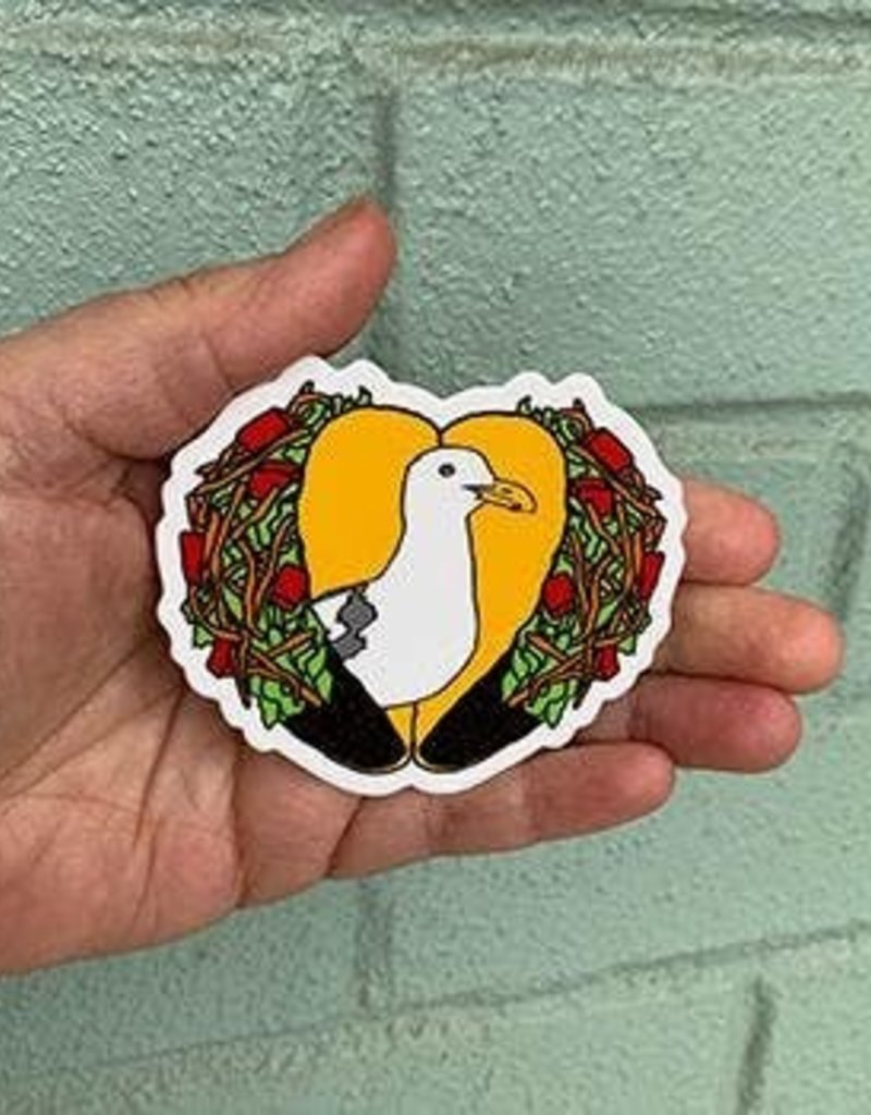 Salty Raven Sticker Gerry Seagull