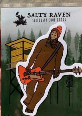 Salty Raven Sticker Mr. Big On Bass