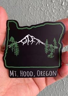 Salty Raven Sticker Mt Hood Oregon
