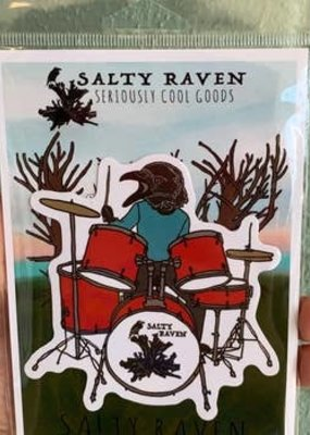 Salty Raven Sticker Salty Raven Drums