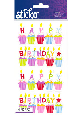 Sticko Sticker Birthday Cakes