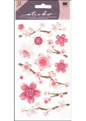EK Sticker Vellum Cherry Blossoms