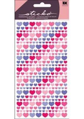 Sticko Sticker Vellum Purple And Pink Hearts