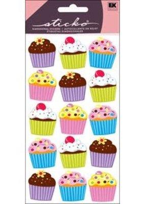 Sticko Sticker Vellum Bright Cupcakes