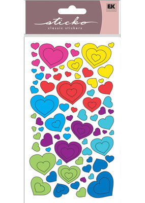EK Sticker Metallic Fun Colorful Hearts