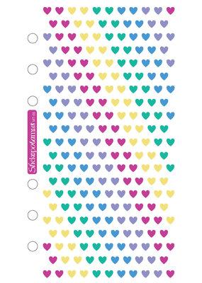 Sticko Sticker Metallic Micro Mini Hearts