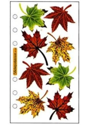 EK Sticker Vellum Maple Leaves