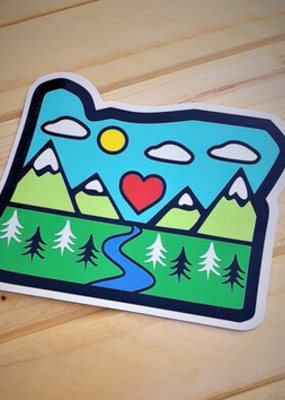 Toketee Sticker Oregon Diorama