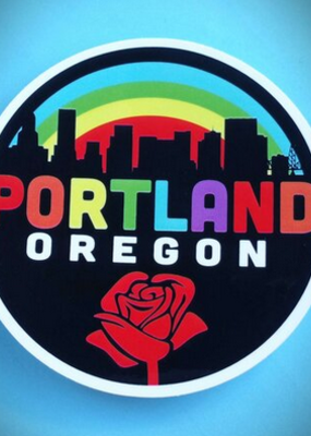 Toketee Sticker Portland Rainbow