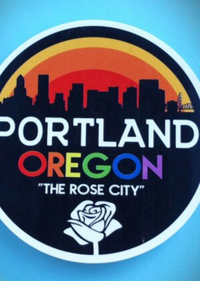 Toketee Sticker Portland Rose City Rainbow