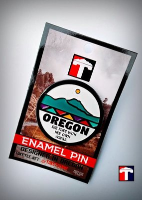 Toketee Enamel Pin Oregon Motto