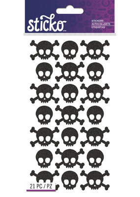 EK Sticker Black Metallic Skulls