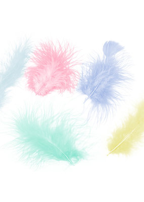 Zucker Feather Turkey Marabou Assorted Pastel