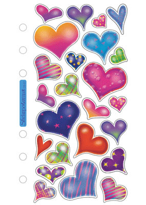 Sticko Sticker Sparkle Hearts