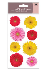 EK Sticker Photo Flowers Gerbera Mix