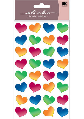 EK Sticker Bubble  Hearts