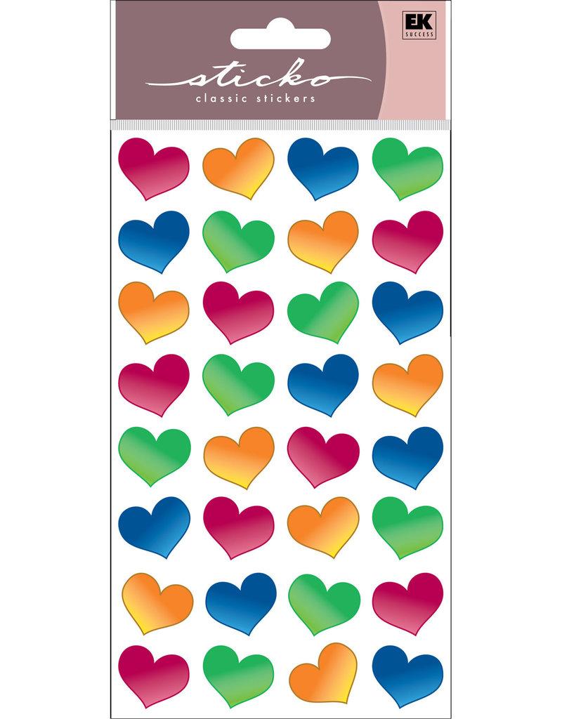 EK Sticker Bubble  Hearts